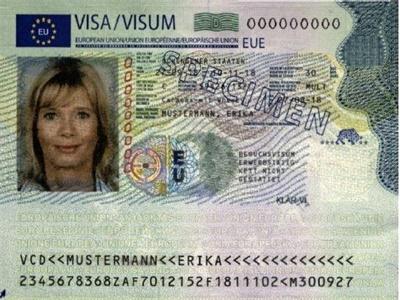 德国签证页